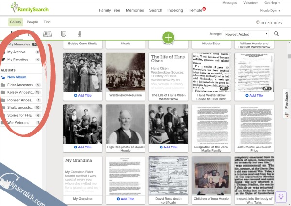 Organize your family history stories for FHE online with Family Search