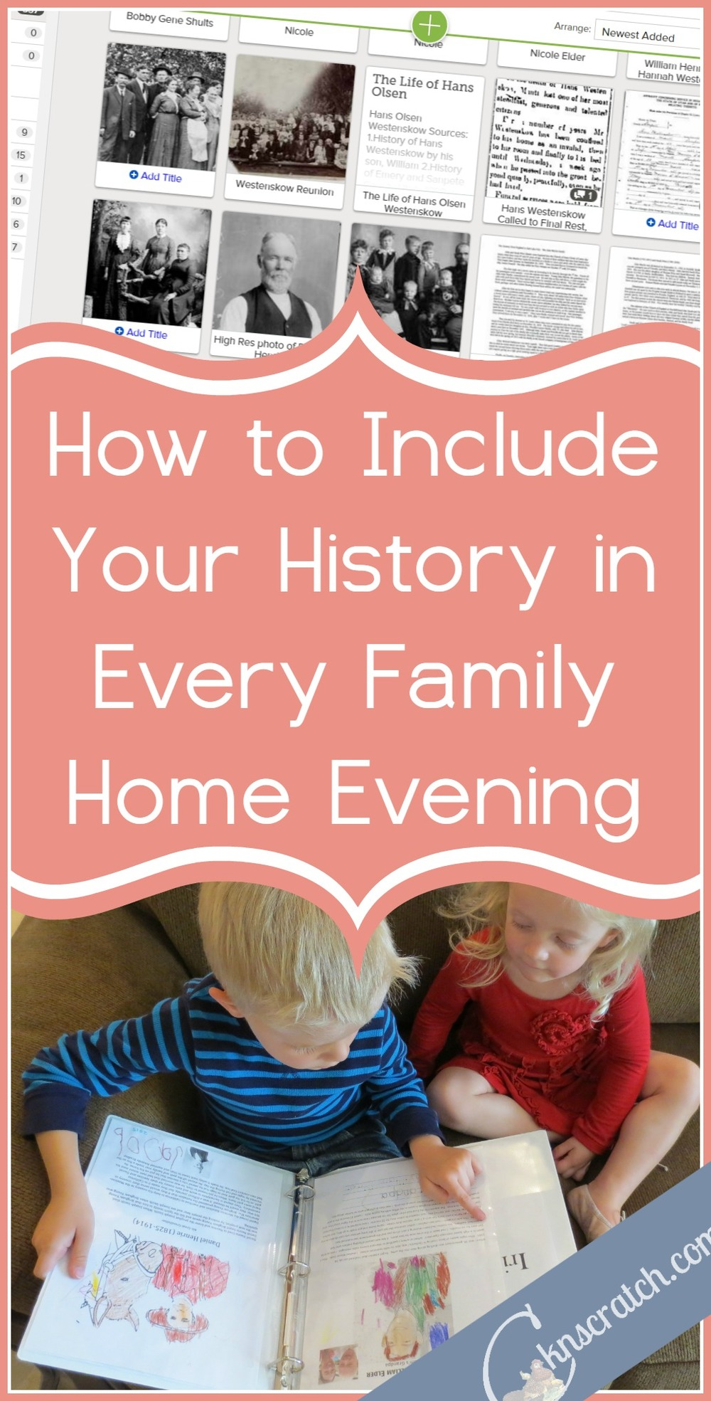 This is a great idea- easy way to include your family history stories in FHE