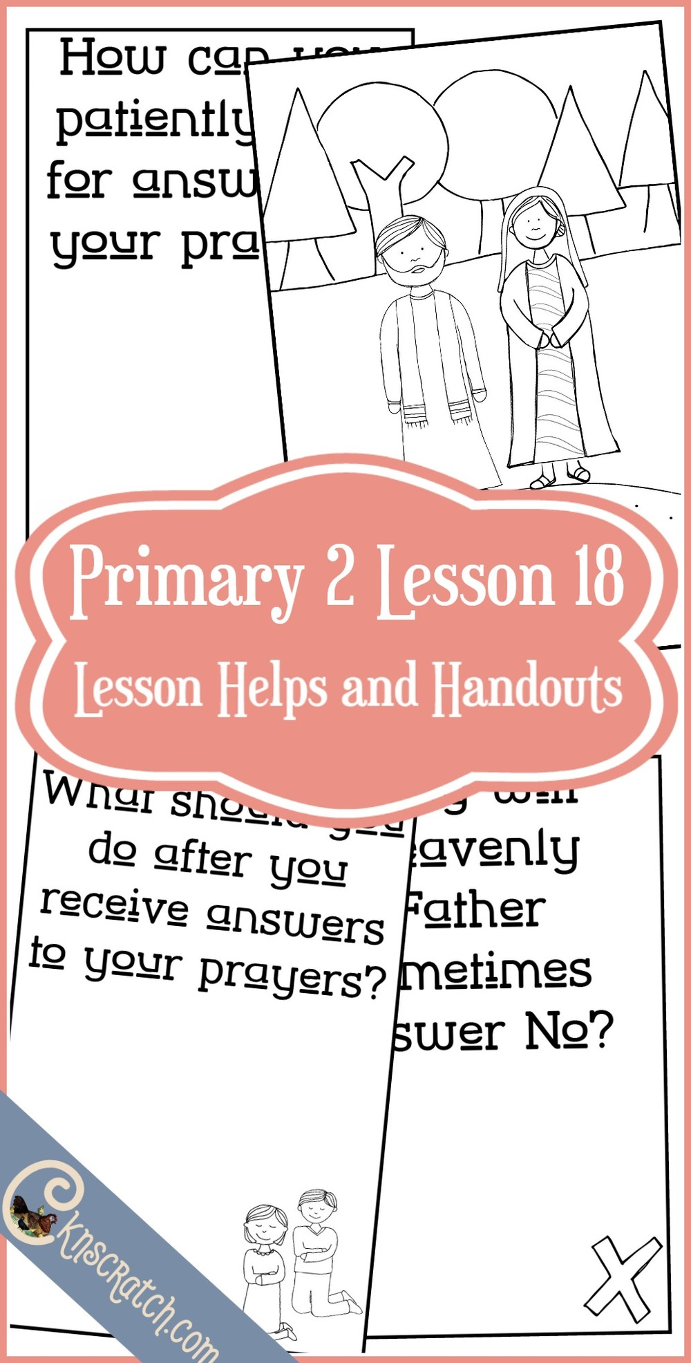 Great flipbook to go with LDS Primary 2 Lesson 18: Prayers are answered in the best way