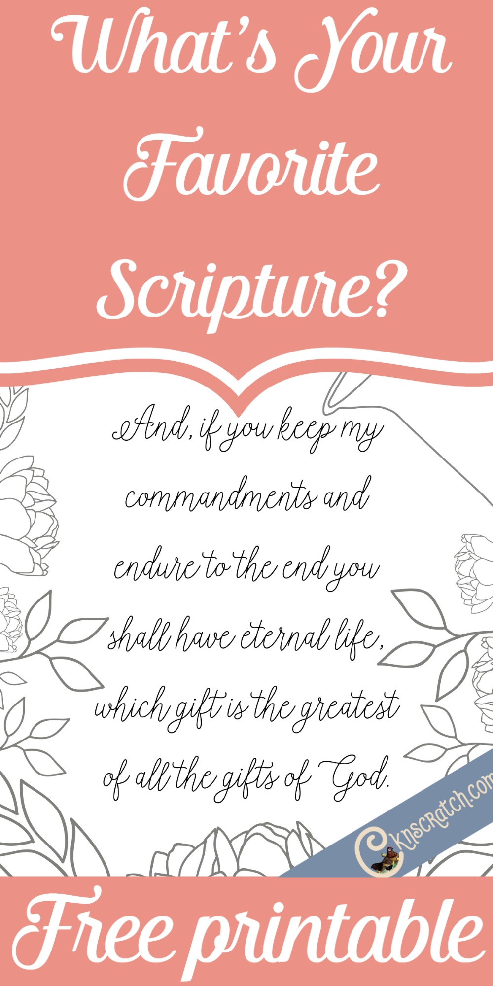 Love this LDS scripture coloring page