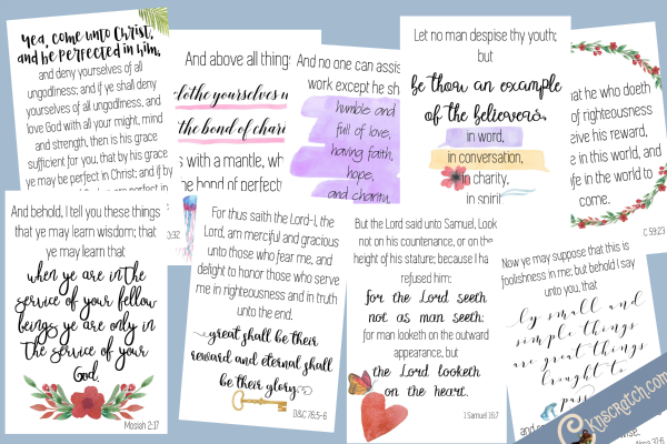 Beautiful scripture cards to go with Howard W. Hunter Chapter 11: True Greatness