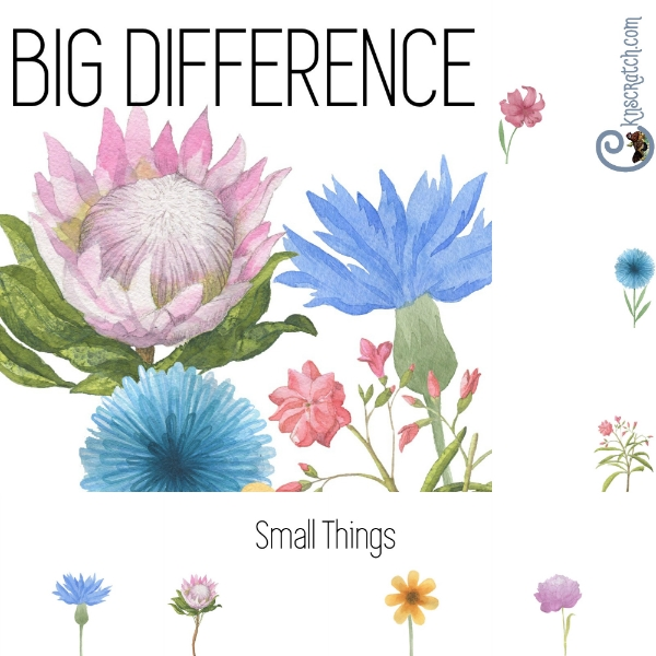 Use this simple things booklet to remember the big difference little things make.