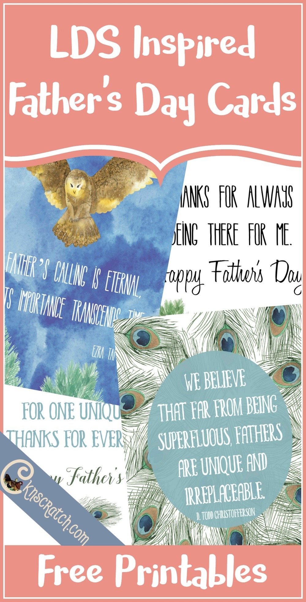 These are great! Free LDS inspired Father's Day cards
