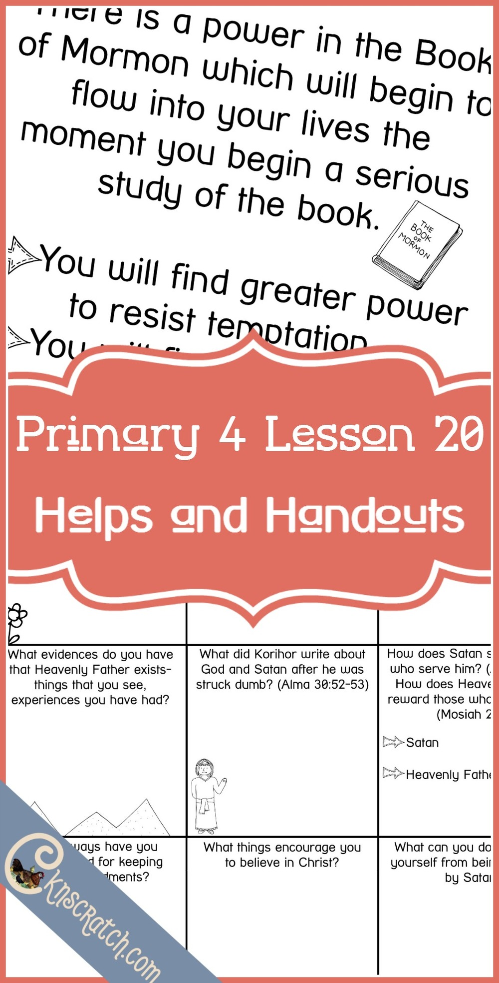 Love these lesson helps and handouts for Primary 4 Lesson 20: Korihor, the Anti-Christ
