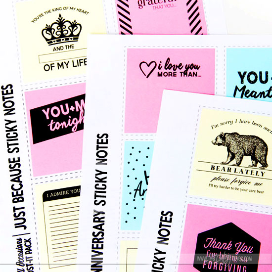Love these printable post-it notes. Great for so many occasions and so easy to do!