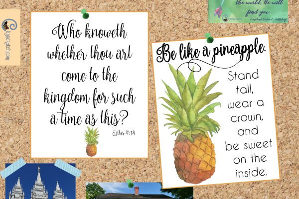 Love this free print for Esther 4:14 and the pineapple quote!