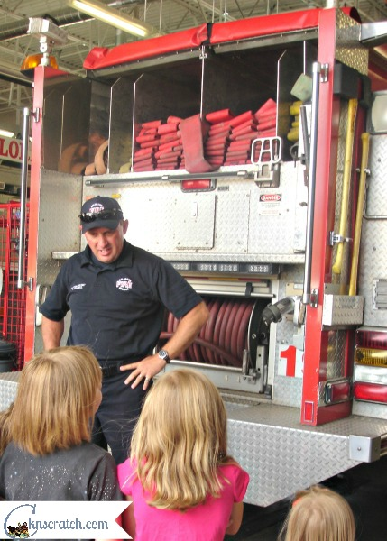 Fire station tours are always fun- love the way she did field trips for summer learning fun