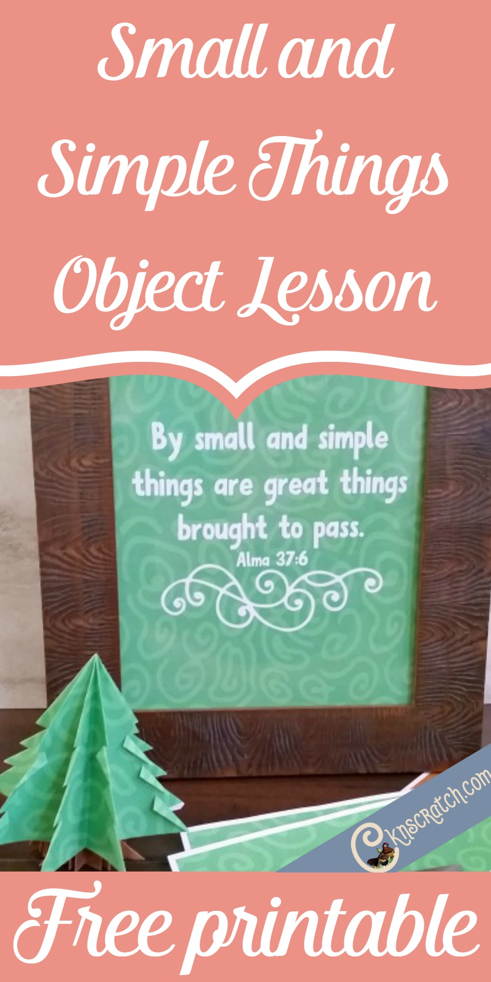 Great object lesson for teaching this scripture about small and simple things. Would be perfect for FHE or YW
