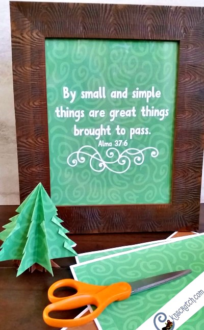 Love this idea! Get the scripture poster plus origami paper to turn small things into something great! Goes great with Alma 37:6