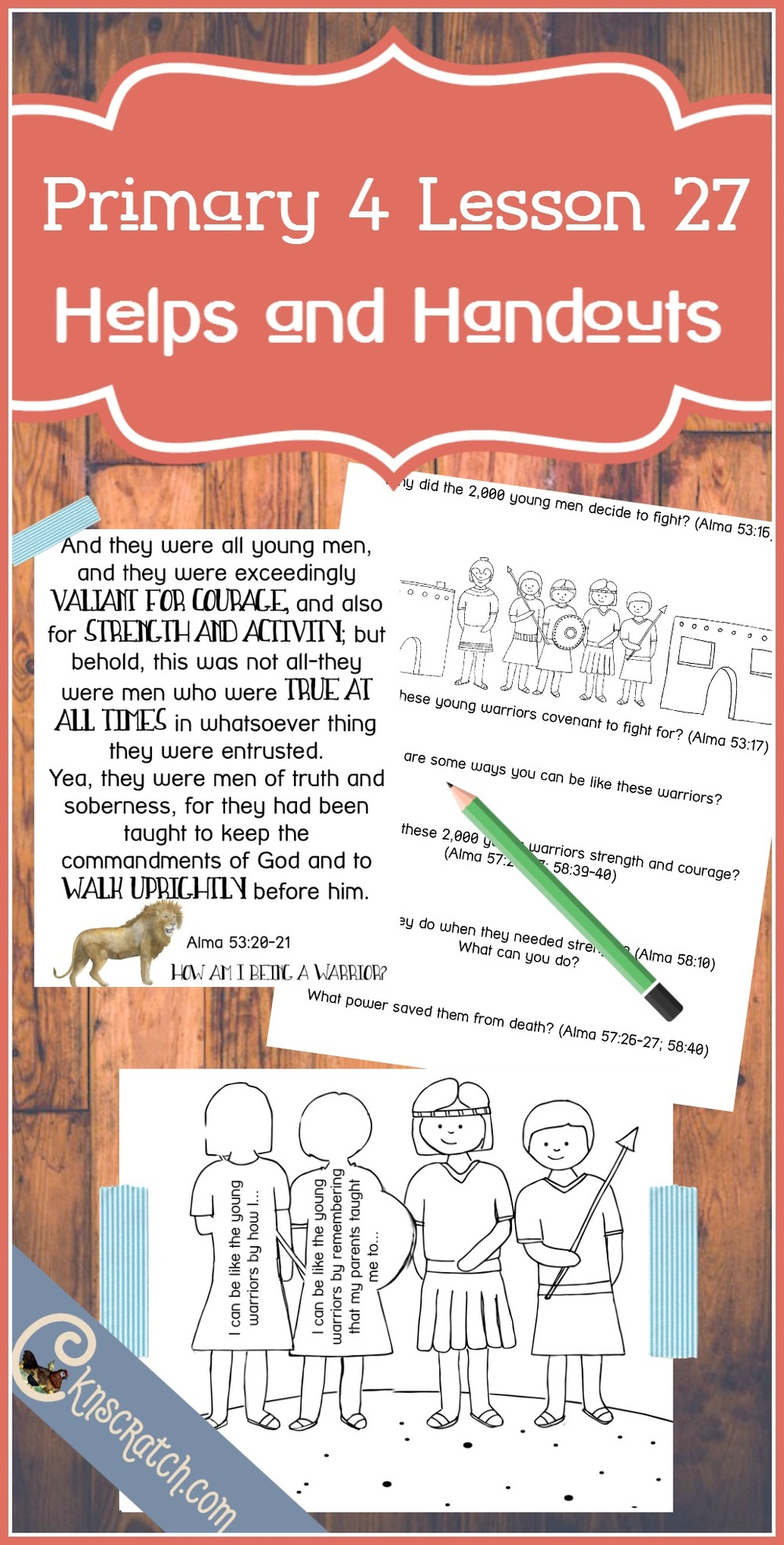 I love this site- LDS Primary lesson helps- Primary 4 Lesson 27: Helaman and the Two Thousand Warriors