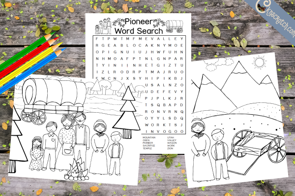 Fun pioneer printables for kids
