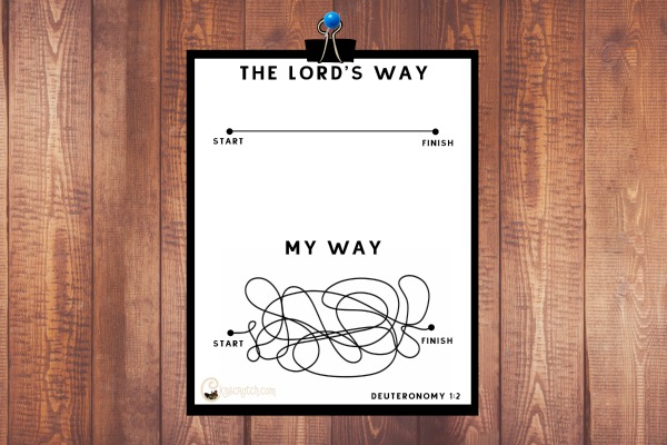 Free scripture printable for understanding that our way, isn't always the right way
