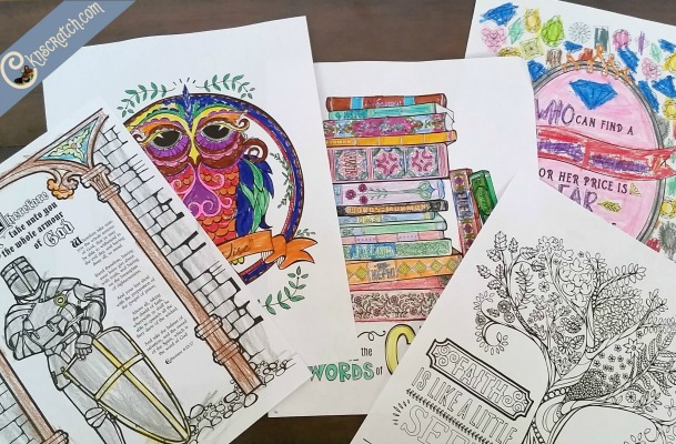 These LDS coloring pages are so neat! I love the details and the meaning behind them.