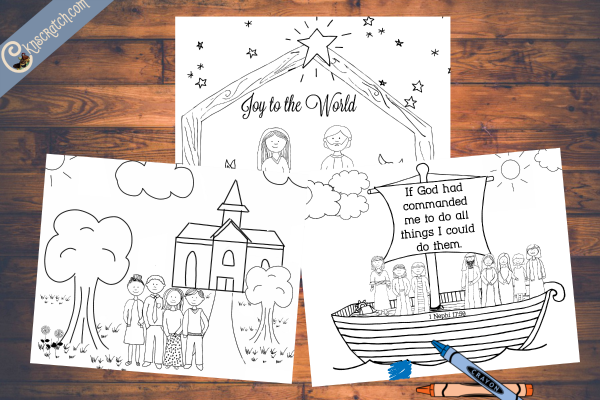 Great LDS coloring pages for children. I love that it includes stories from scriptures as well as modern day examples.