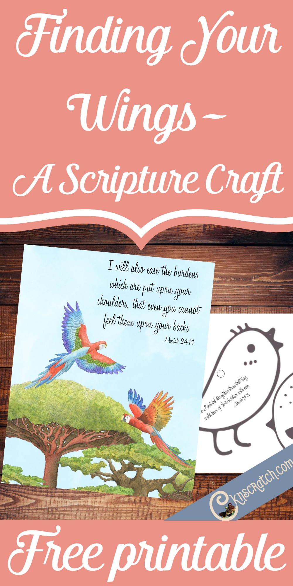 Great imaginary with the wings in these free scripture printables