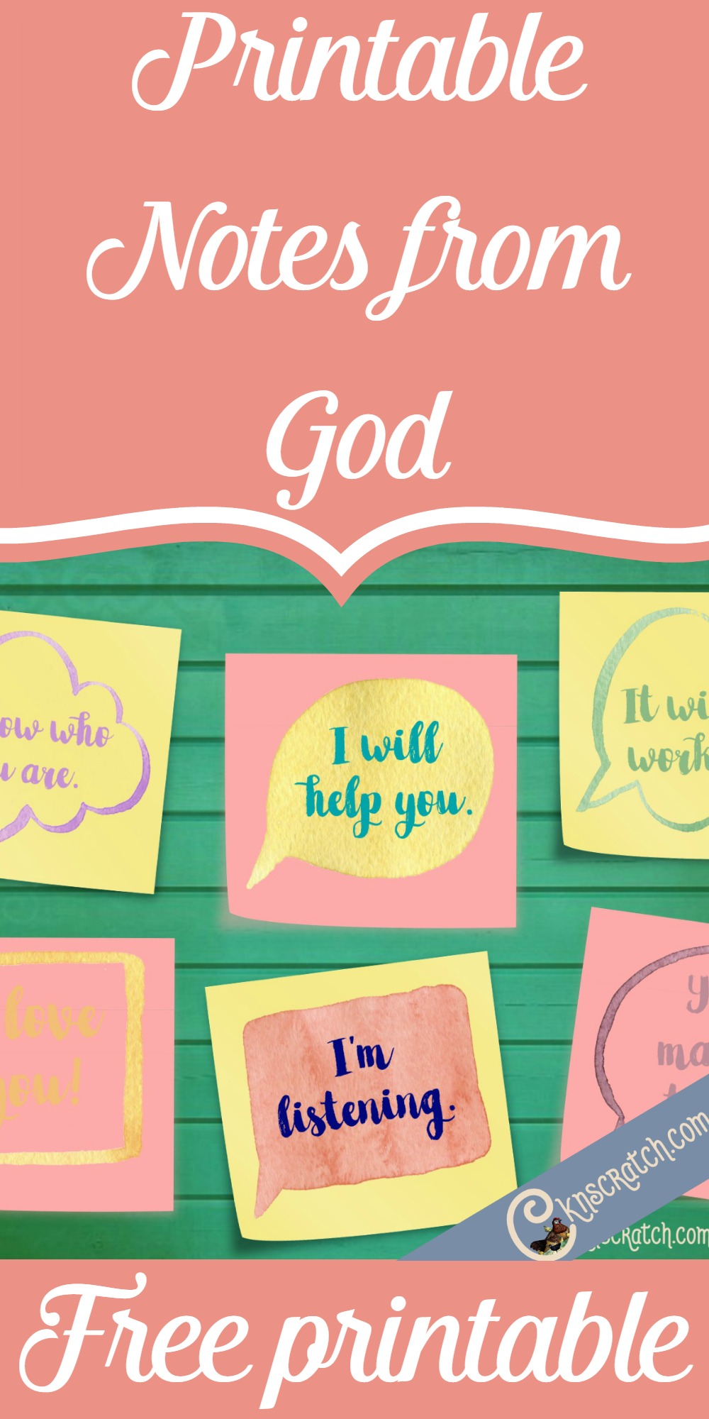 You could put these in your scriptures or on your mirror- great idea. Printable notes from God