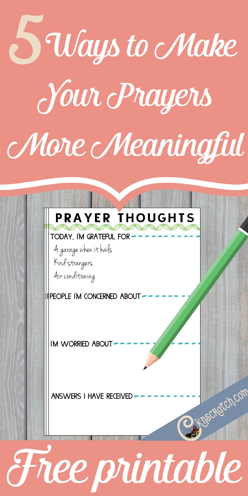 Great ideas for how to make your prayers more meaningful but free printable