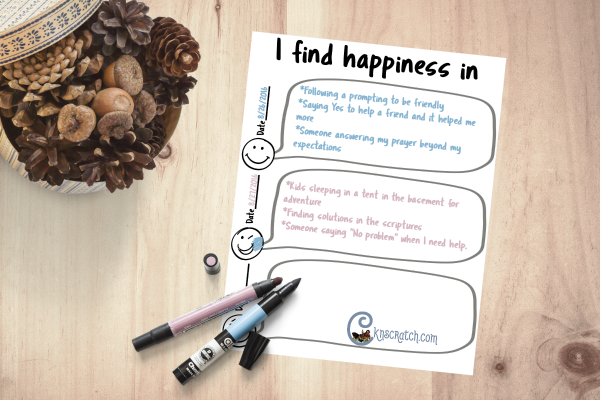 Put your happiness in writing with this free printable- it'll change the way you view the world