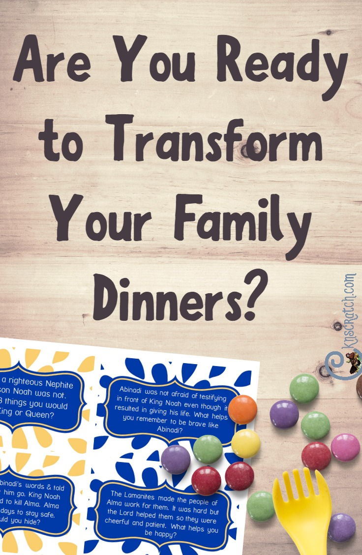 Transform your family dinner nights with these great ideas! LDS family time