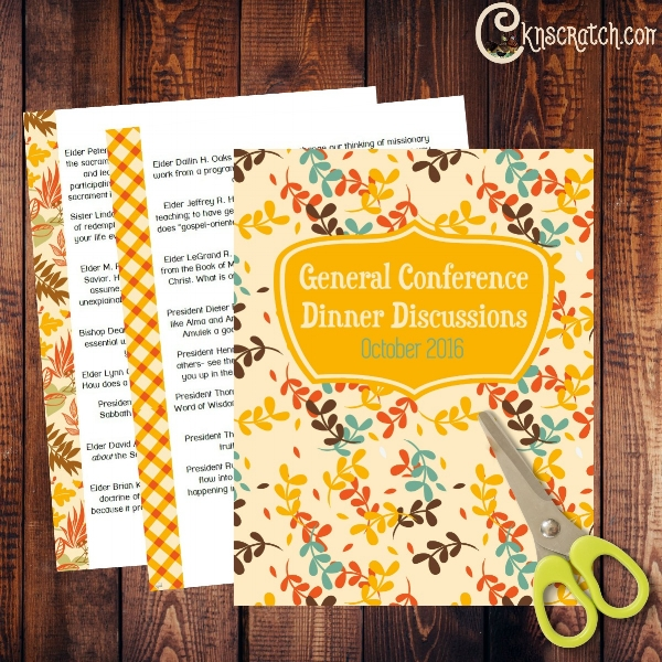 General Conference Dinner Discussions for October 2016- I love these!