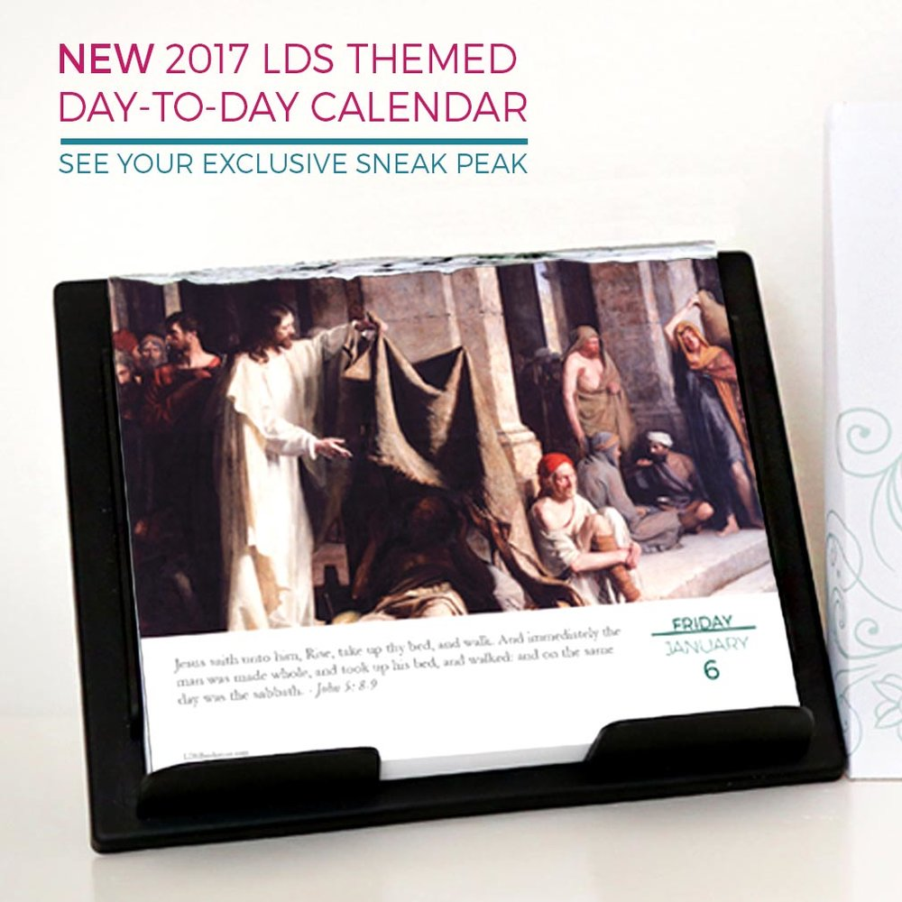Awesome daily LDS calendar for 2017!