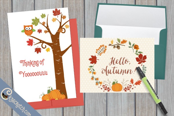 Cute fall cards- great idea for teaching Howard W. Hunter Chapter 22: Teaching the Gospel