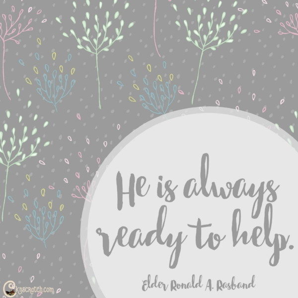 He is always ready to help.