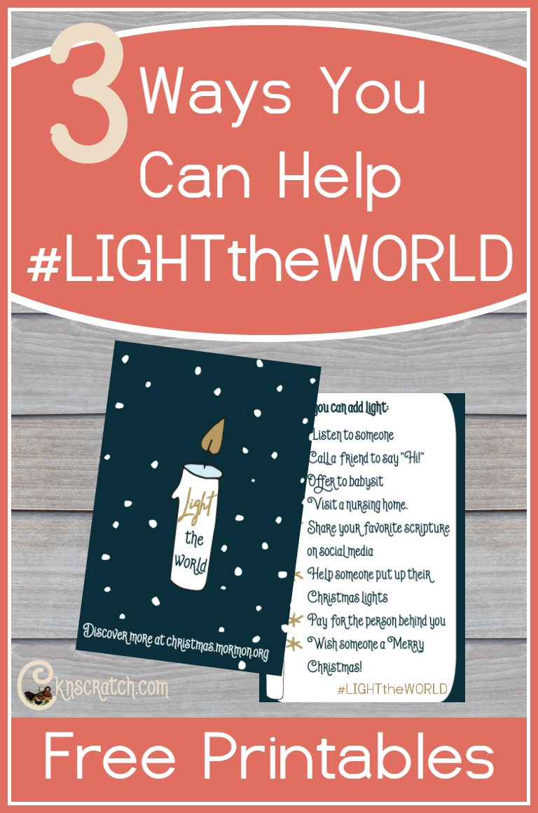 #LIGHTtheWORLD with service this Christmas. Here are 3 ways to get you thinking.