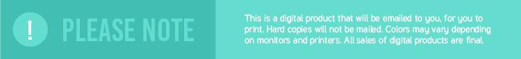 Printable disclaimer