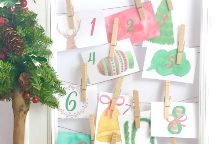 Super cute Christmas countdown (and easy)