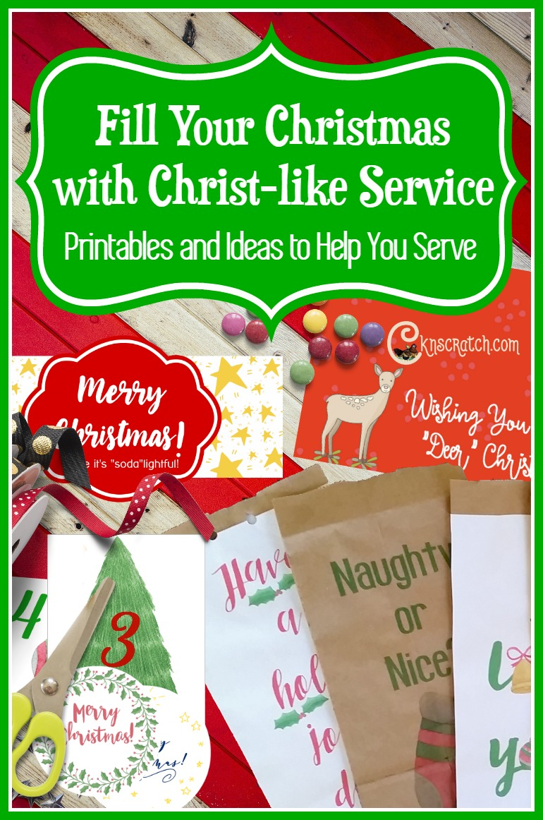 Love this! Great ideas for service at Christmas time plus all the printables you need to make them happen