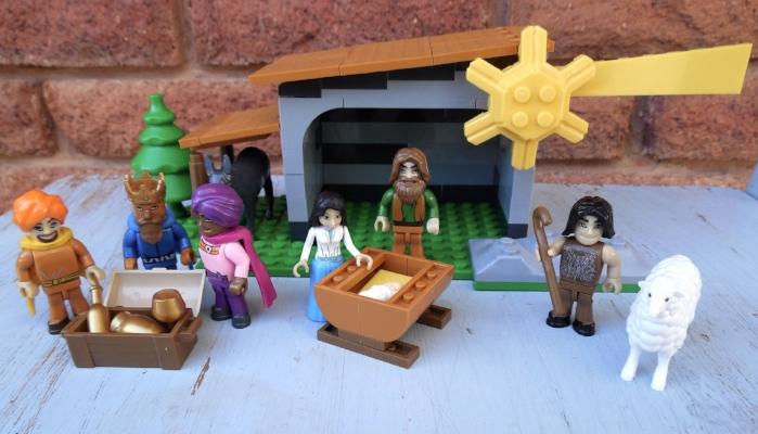 Nativity building block scene- perfect for kids