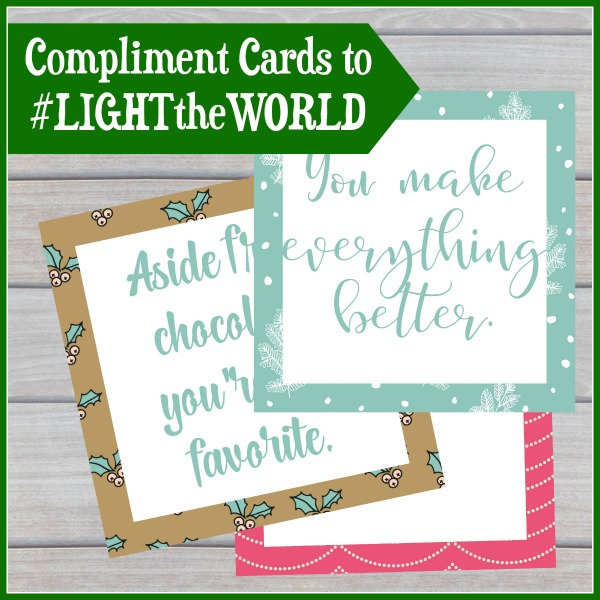 #LIGHTtheWORLD with compliments