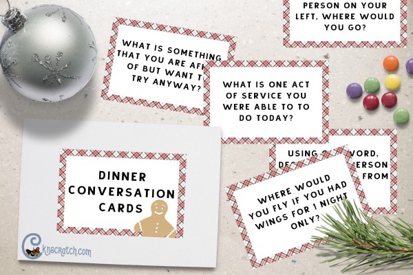 Awesome dinner cards to go with feeding the hungry door meal! #LIGHTtheWORLD