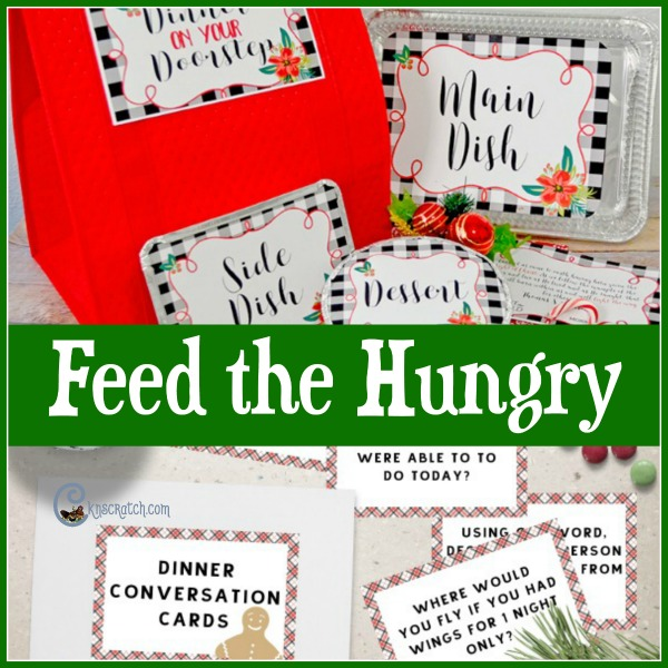Feed the hungry with food and warm thoughts with this idea! #LIGHTtheWORLD