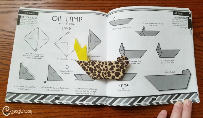 Neat- origami oil lamp plus great FHE lesson about #LIGHTtheWORLD