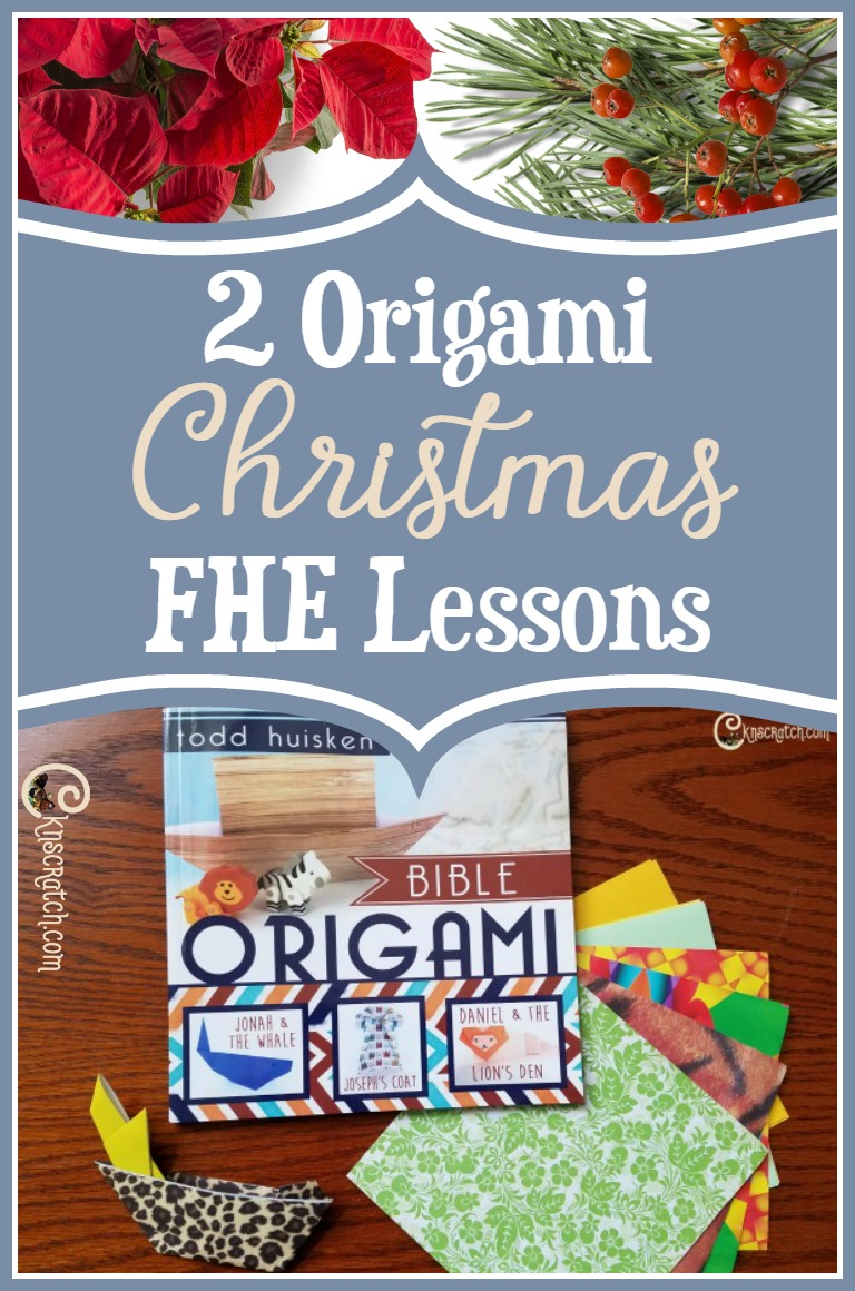 How fun! I'd love to do these origami Christmas FHE lessons!