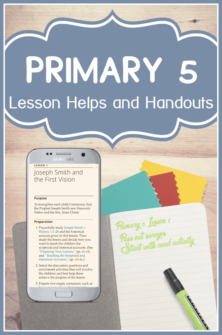 I'm so glad I found this site- will be using it all year! LDS lesson helps and free handouts for teaching Primary 5: Doctrine and Covenants and Church History