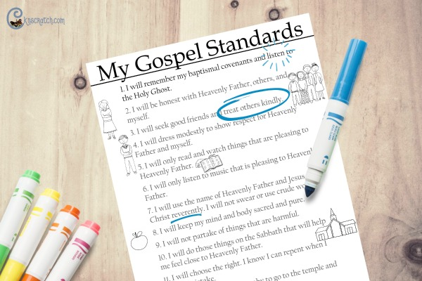 My Gospel Standards- highlight and share the parts that are important to you