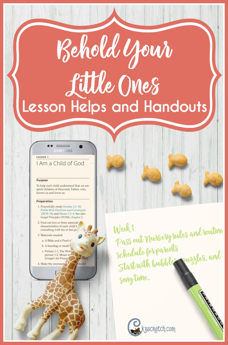 Great resource for finding extras for teaching Behold Your Little Ones (LDS Nursery)
