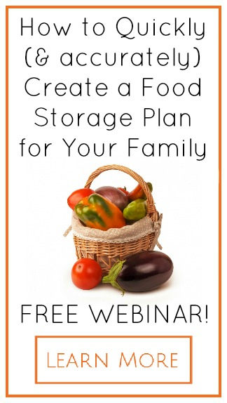 Free Webinar on how to create a real food storage plan for your family