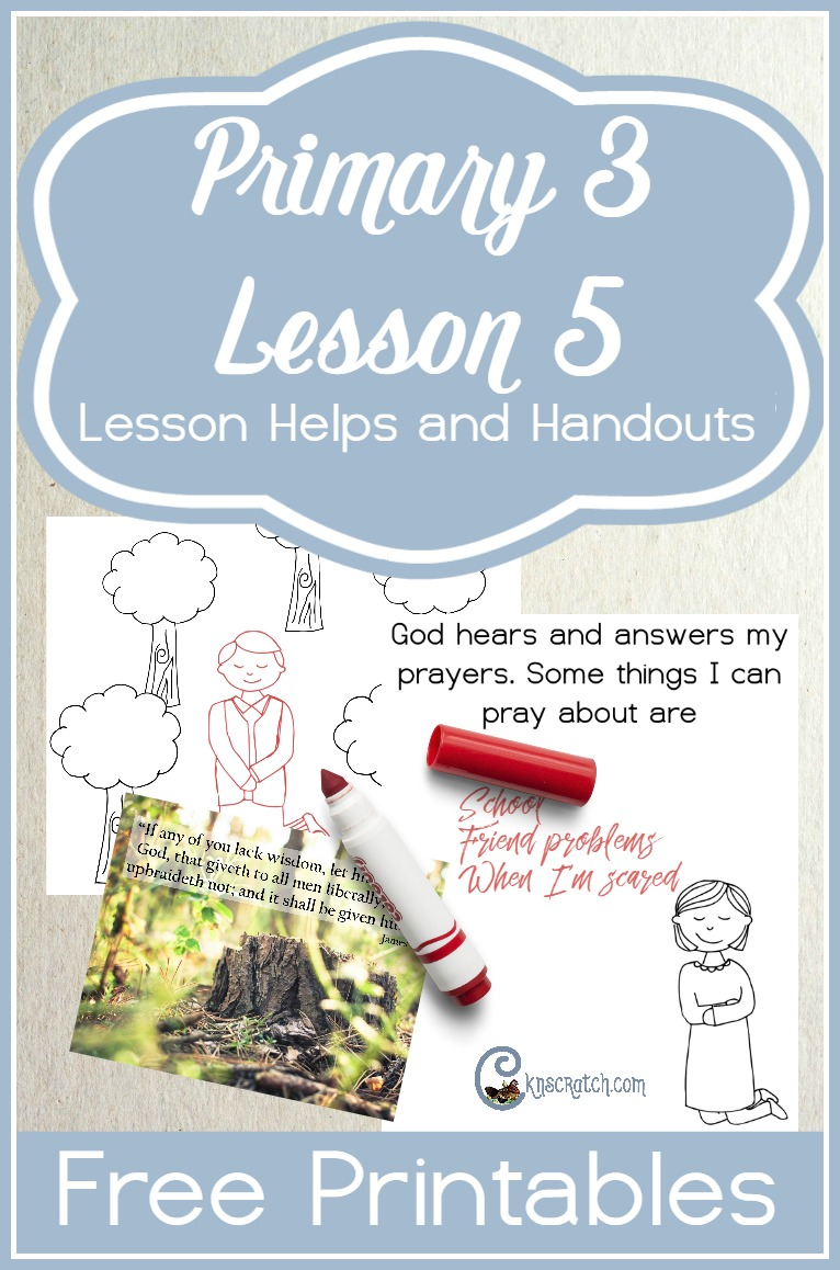 Great LDS lesson resources (including free handouts) to use for Primary 3 Lesson 5: Joseph Smith saw Heavenly Father and Jesus Christ