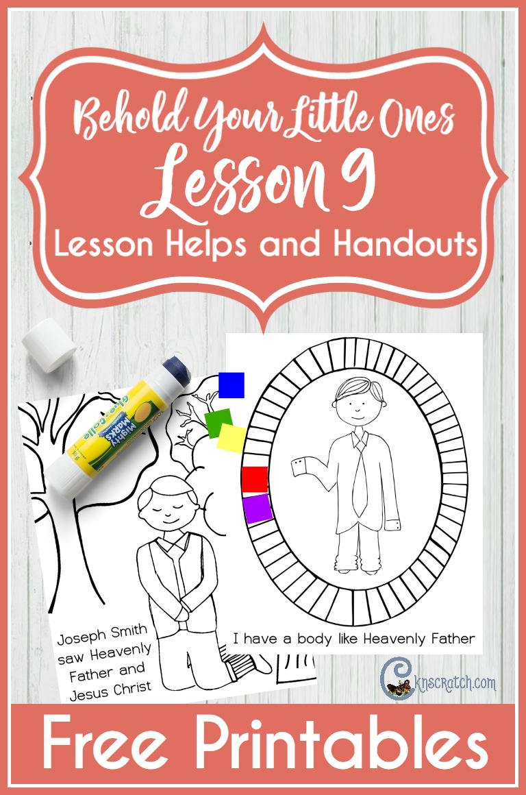Great resource for teaching Behold Your Little Ones Lesson 9: I Have a Body like Heavenly Father's