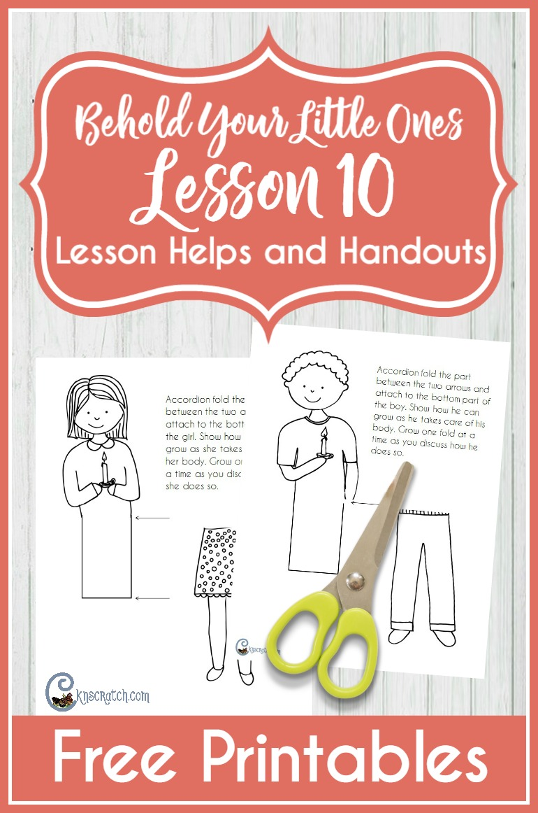 Great resources and free printables for Behold Your Little Ones Lesson 10: I Will Take Care of My Body