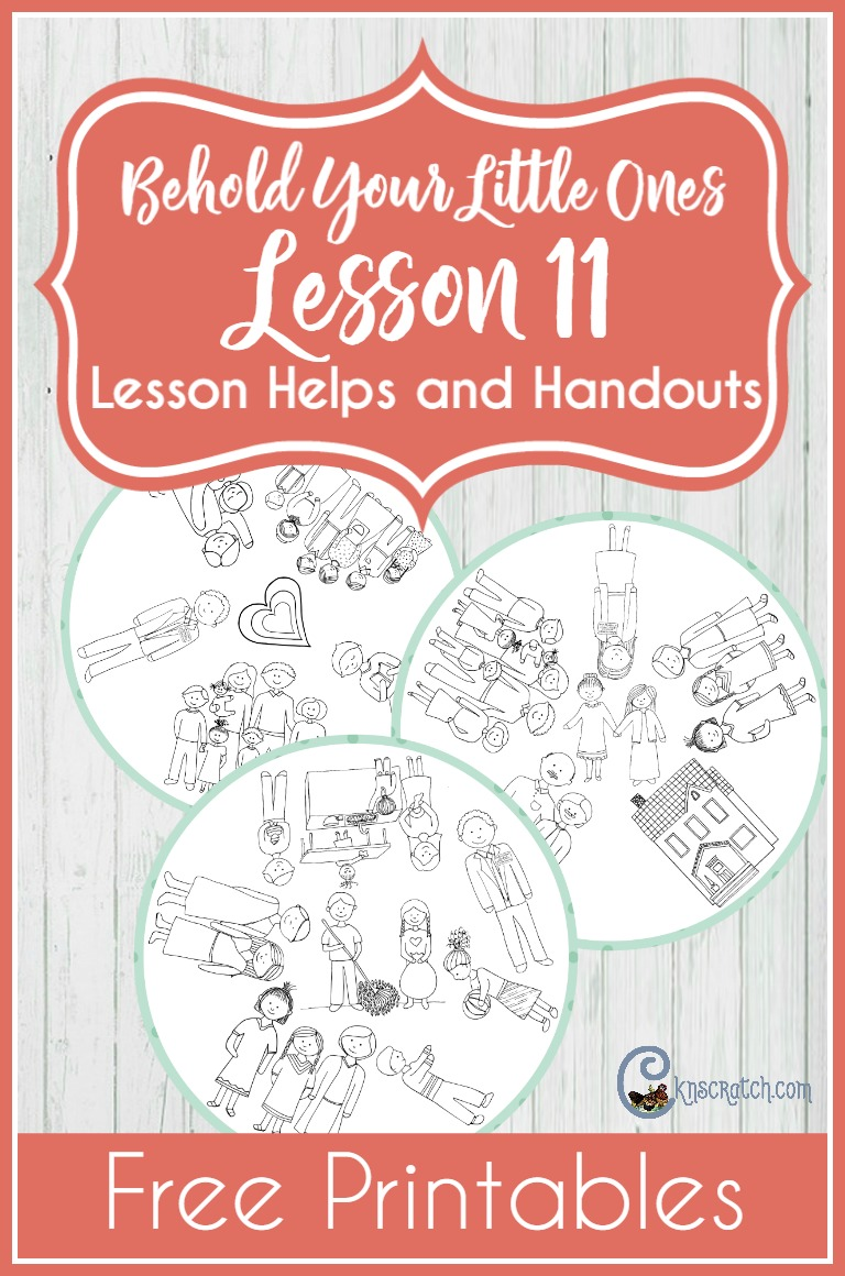 Great LDS lesson helps for teaching Behold Your Little Ones Lesson 11: I Love My Family- love the family game idea