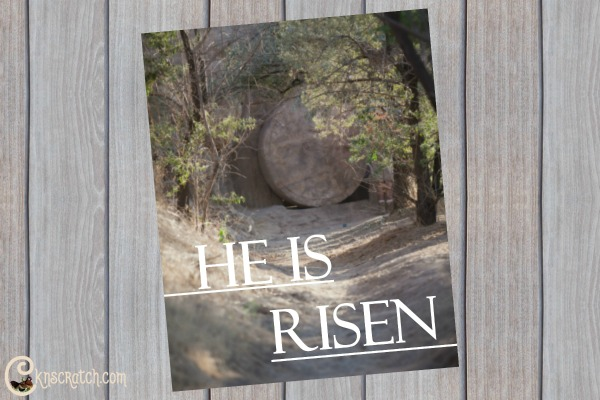 He Is Risen poster to print for Easter