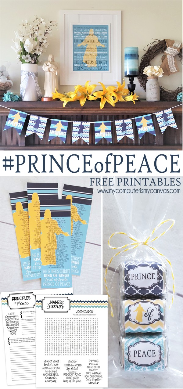 Great #PrinceofPeace printables from My Computer Is My Canvas
