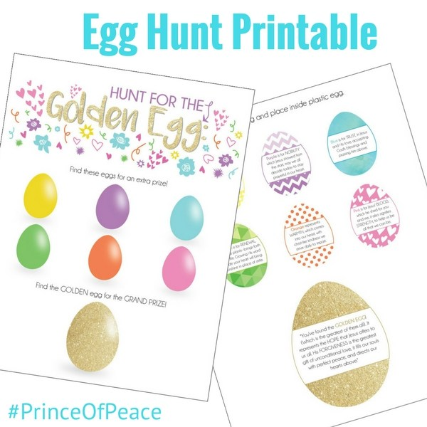 Cute Gold Egg hunt idea from Double the Batch
