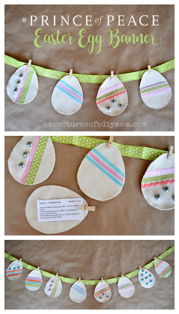 Easter egg banner from Adventure of a DIY Mom