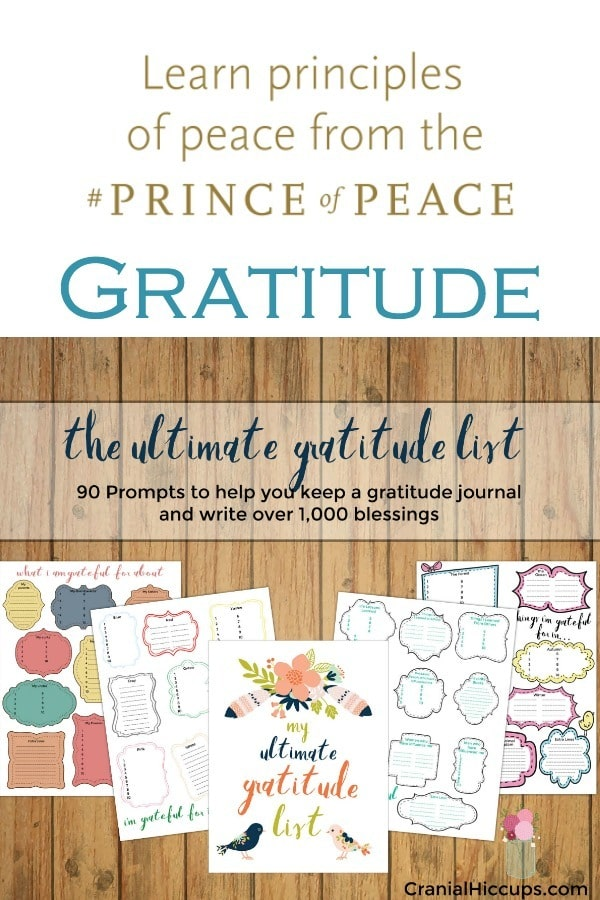 Ultimate Gratitude list from Cranial Hiccups